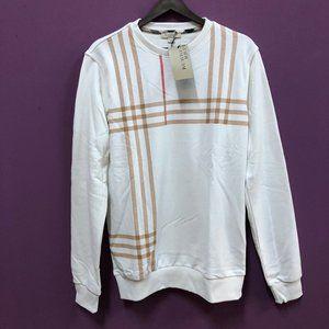 "Burberry London Men White Sweatshirt""S"""